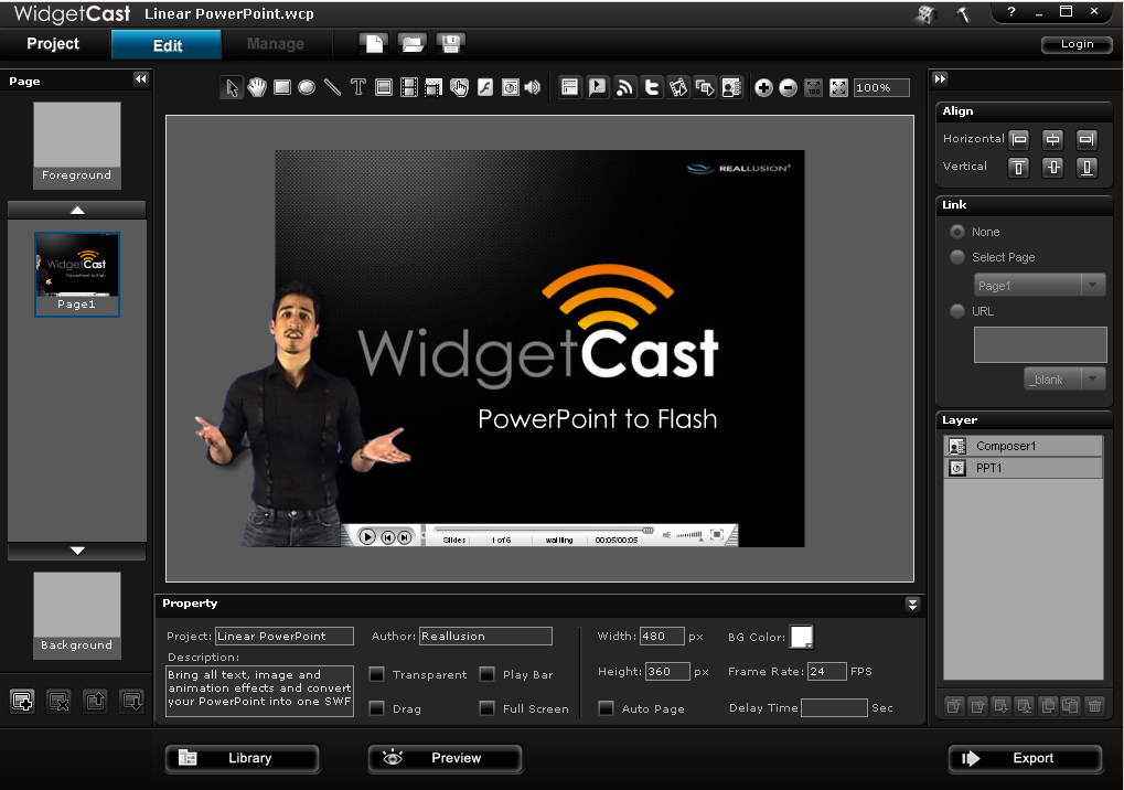 Click to view Reallusion WidgetCast 2 screenshot