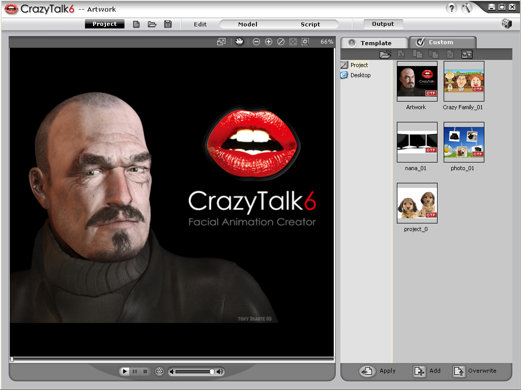 Make images & photos talk with automatic lip-sync facial animation.