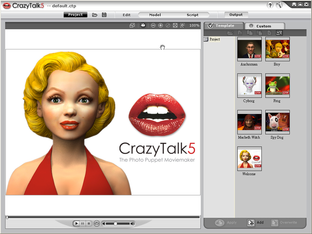 Reallusion CrazyTalk screenshot