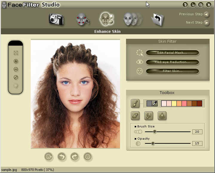 Fine-tune facial images for perfect photos.