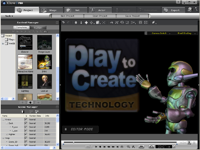 iClone3: Create, Direct and Share animation
