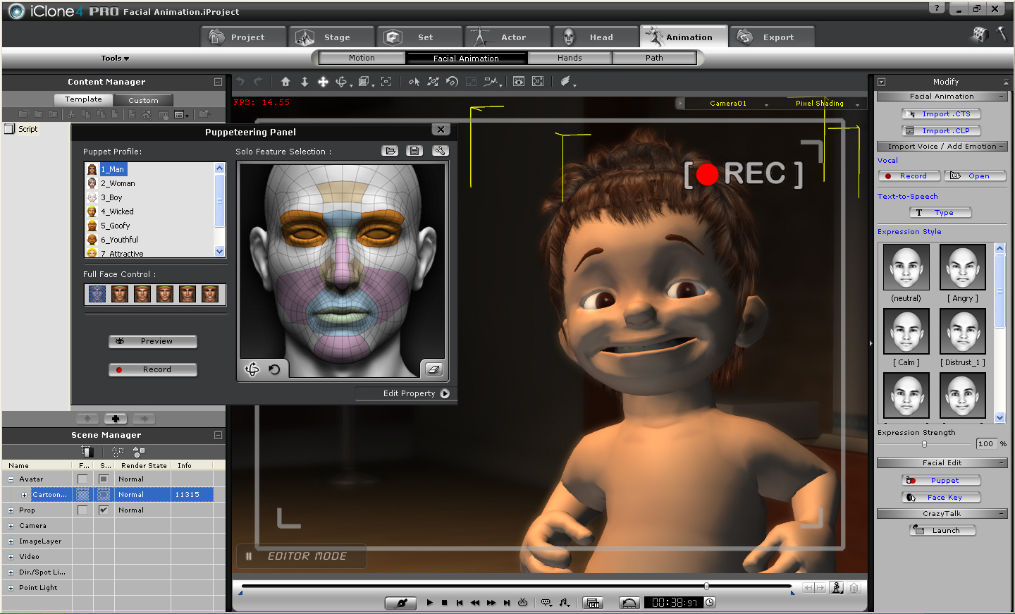 iClone4 is the 3D Movie Machine. well known Screen Shot