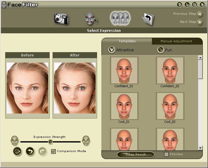 Enables you to enhance, repair and adjust facial images for perfect photos