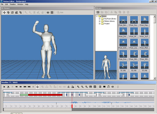 Reallusion It'sMe Motion Editor - Create realistic human motion data for It'sMe